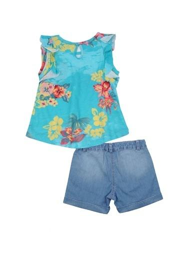Zeyland Mavi Fırfırlı T-shirt ve Kot şort Takım (9-24ay) Mavi Fırfırlı T-shirt ve Kot şort Takım (9-24ay) Mavi